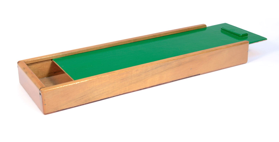 Caja para guardar lápices