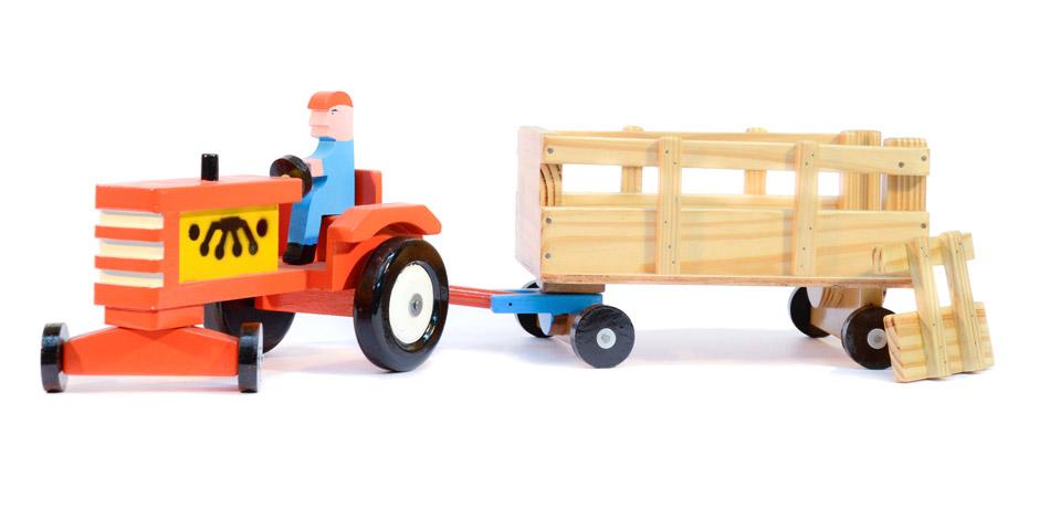 Tractor con vagón