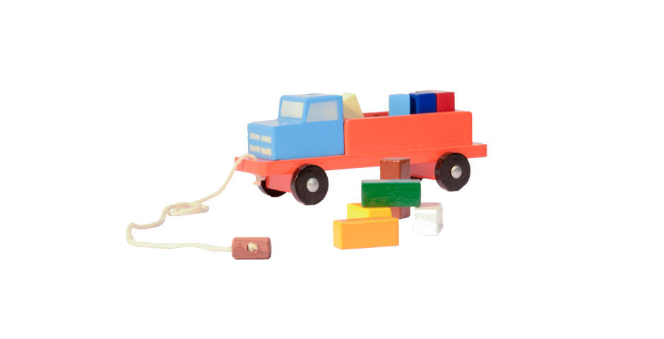 Carro bloques de colores
