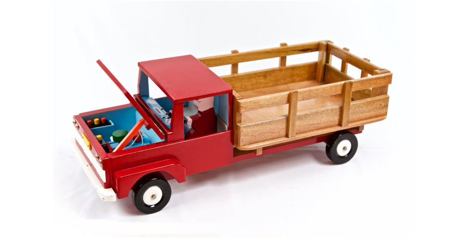 Camión baranda con motor